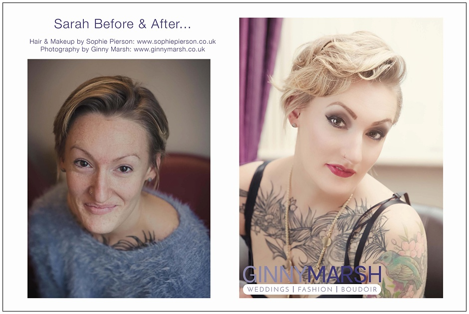 Boudoir before & after | Boudoir photographer Surrey