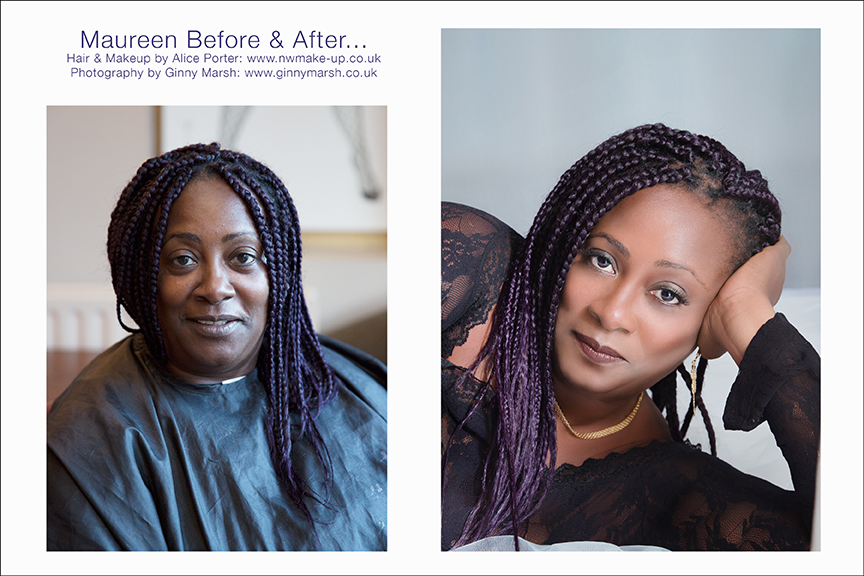 Boudoir makeover before and after