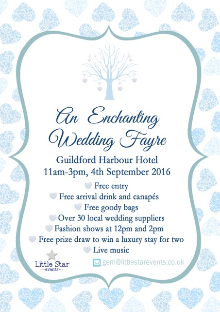 A4 poster enchanted wedding fayre