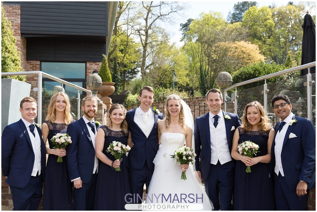 Navy cream wedding colour scheme