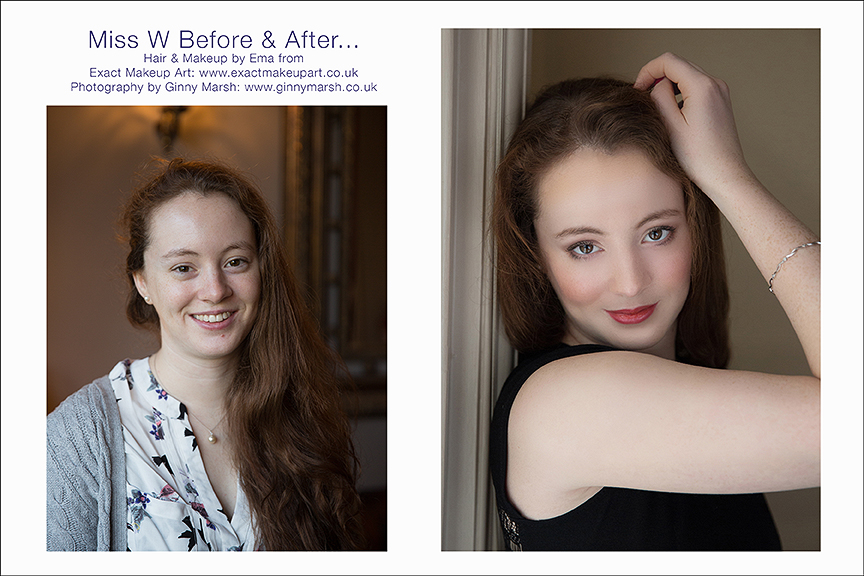 Boudoir Before and after transformation