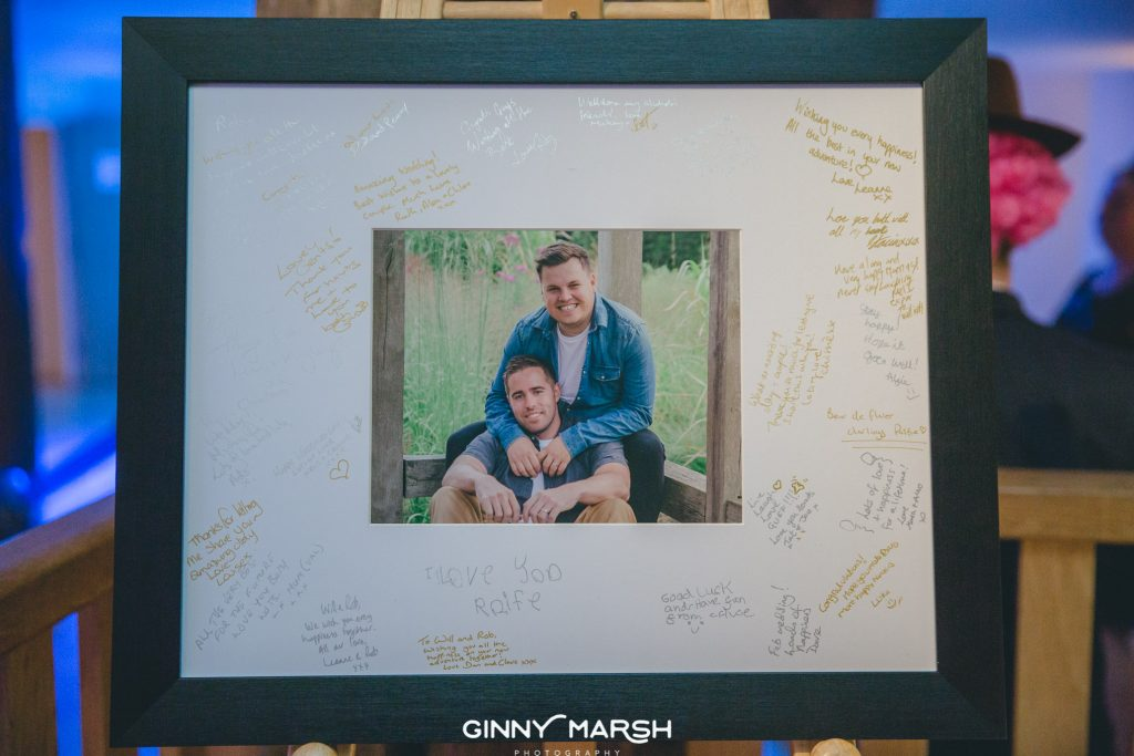 Signing frame | Ginny Marsh Photography