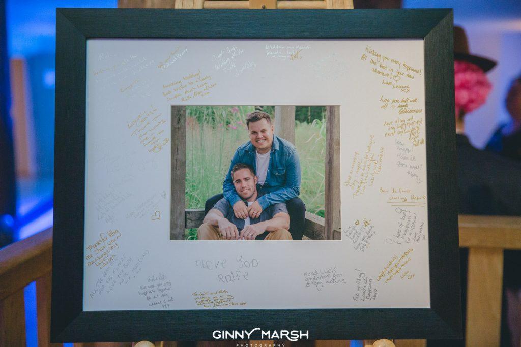Signing frame   Ginny Marsh Photography