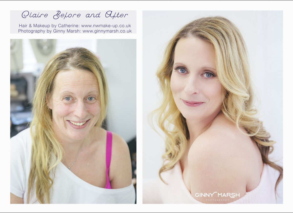 Hair and makeup transformation | Ginny Marsh Photography