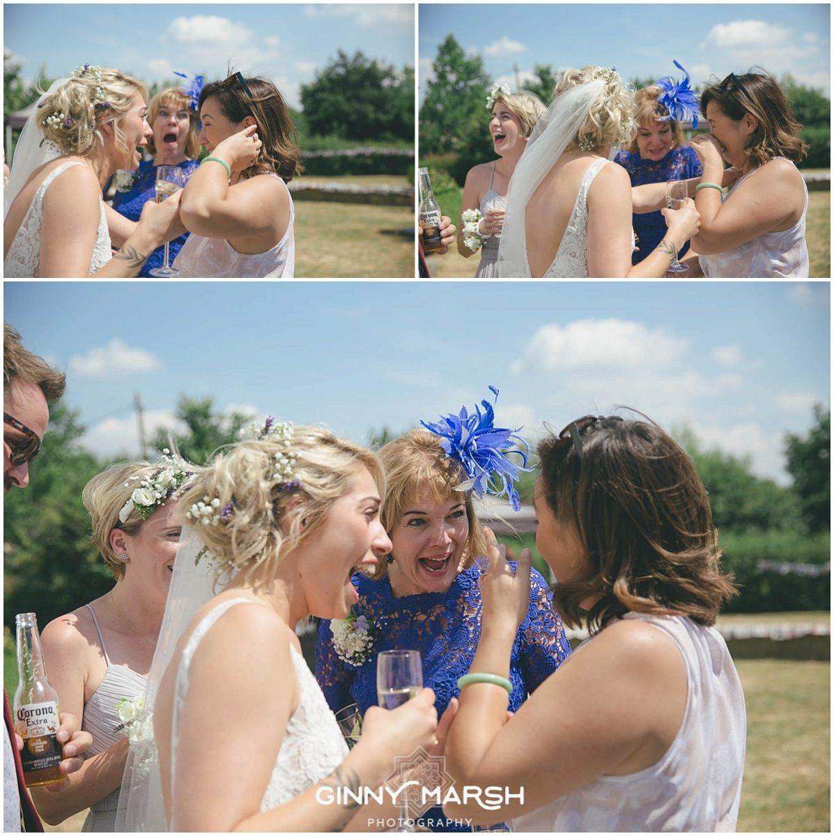 Boho Summer wedding photography | Groomes wedding venue Surrey