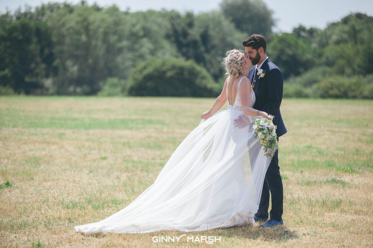 Boho country wedding photography at Groomes, Surrey