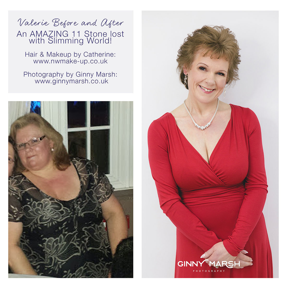 Valerie's before & after weightloss | Ginny Marsh Photography