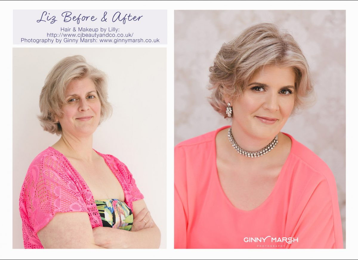 Liz before & after makeover   Ginny Marsh Photography