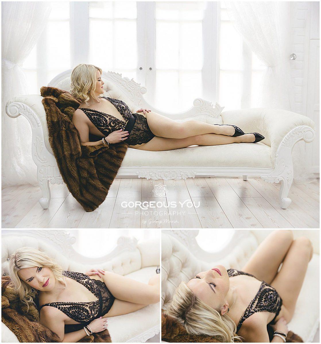 Sara's Fabulous at 40 Boudoir photoshoot