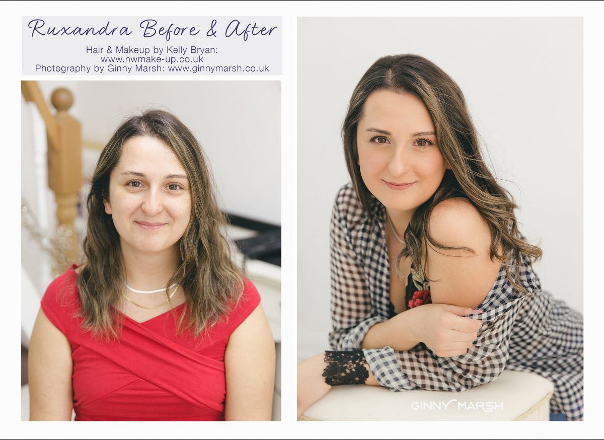 before and after hair and make-up | Gorgeous You Photography