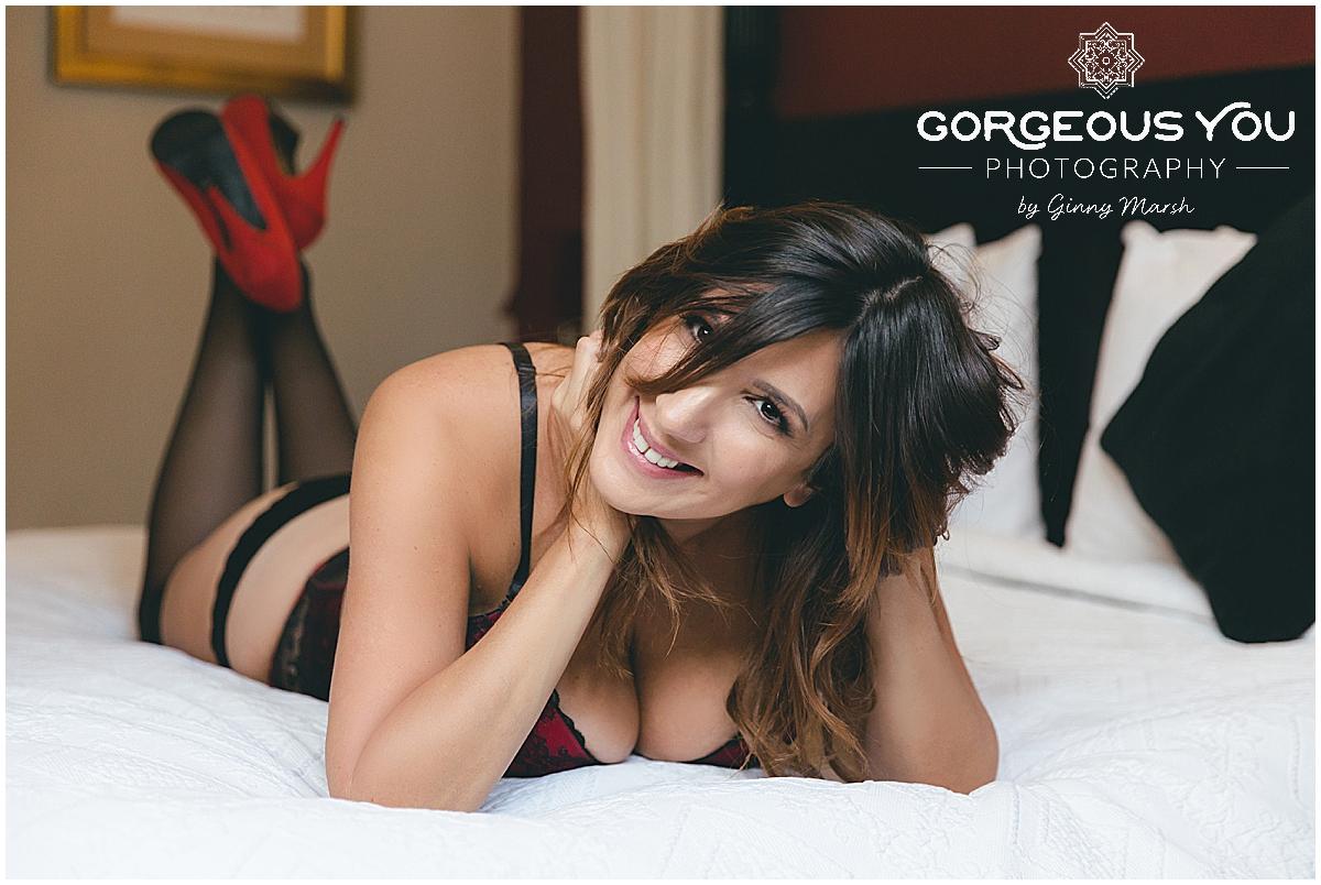 Lisa Johnson | empowering boudoir photoshoot | Gorgeous You Photography