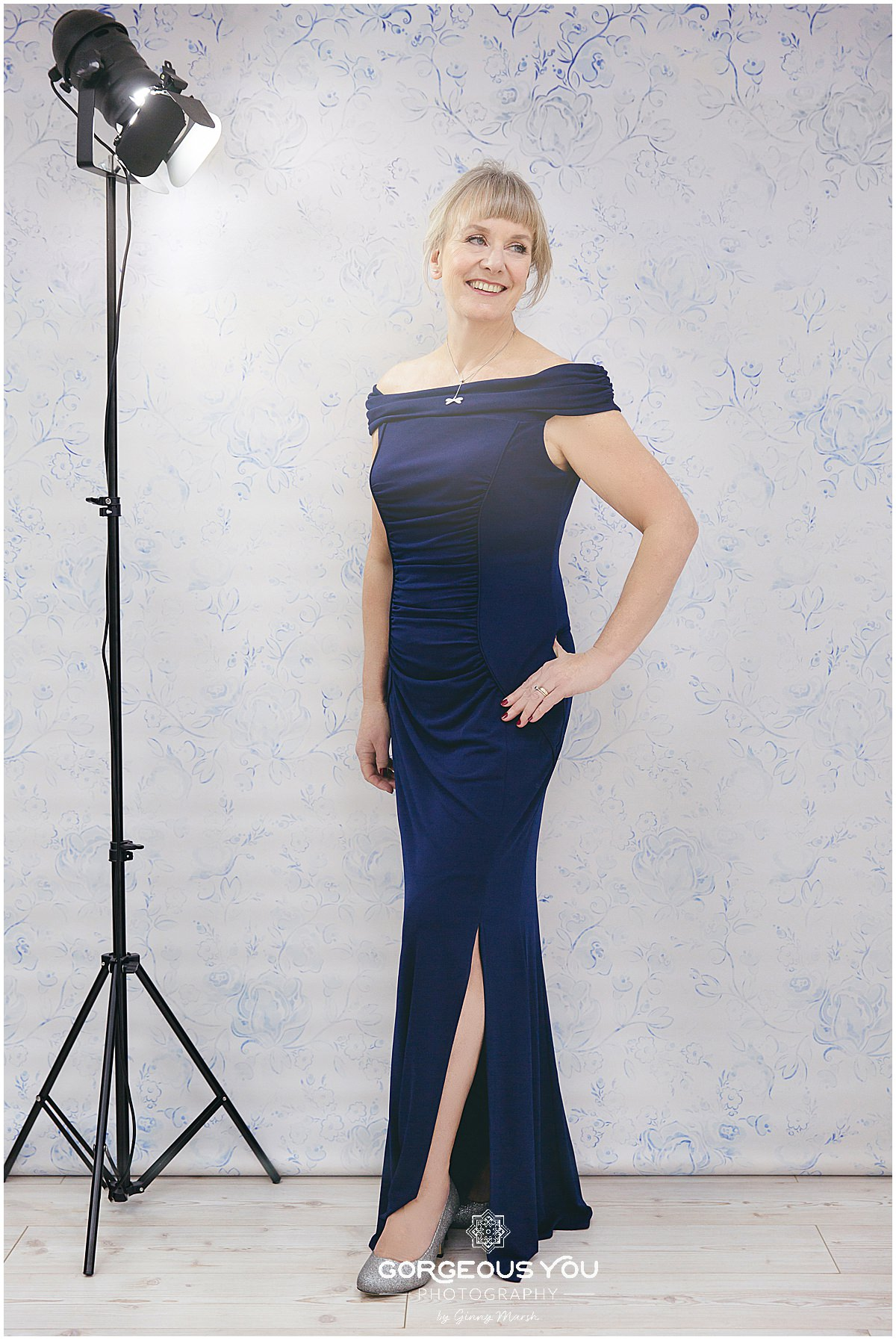 Linda's 60th birthday photoshoot - evening dress | Gorgeous You Photography
