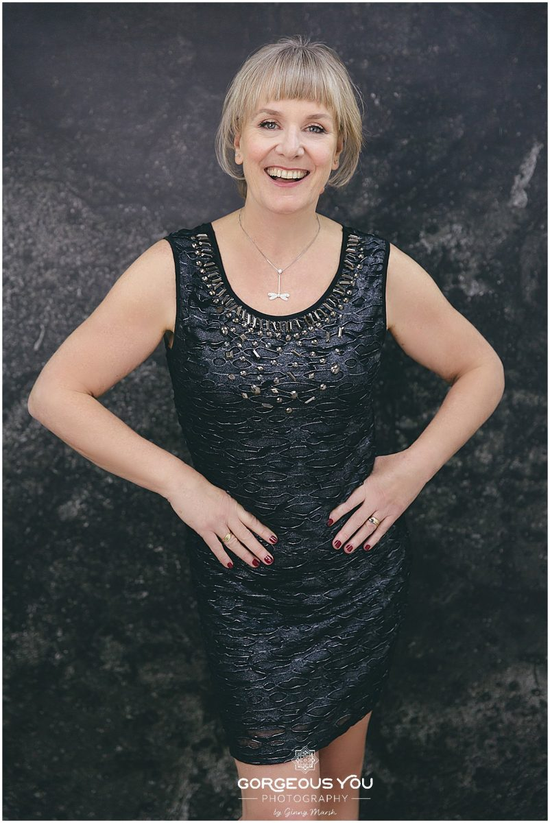 Linda's 60th birthday photoshoot - little black dress | Gorgeous You Photography